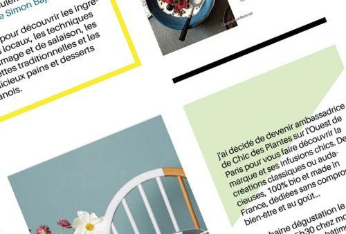 Newsletter Voyages en cuisine